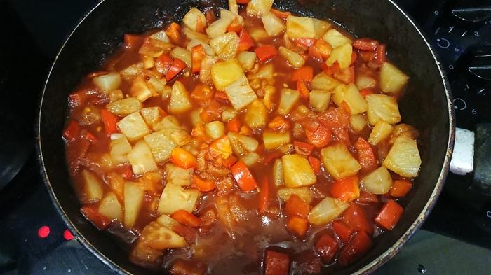 Курица с ананасами в кисло-сладком соусе Рецепт, Курица, Длиннопост