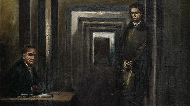 """В Италии мужчина с криком """"Мерзавец!"""" набросился на картину Гитлера"""
