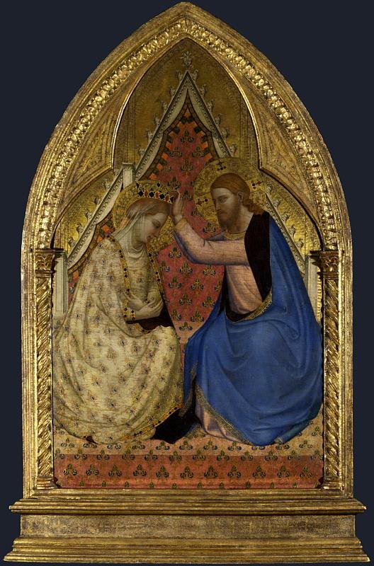 Бернардо Дадди - Коронование Девы Марии. Национальная галерея, Часть 1