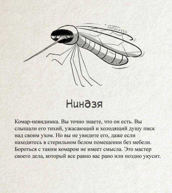 Остроумная классификация комаров
