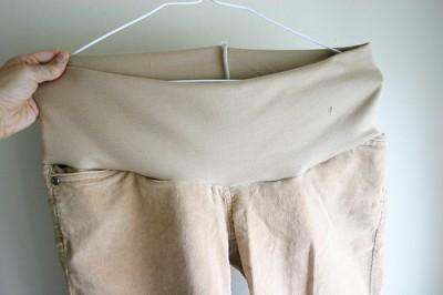 Как переделать джинсы в джинсы для беременных