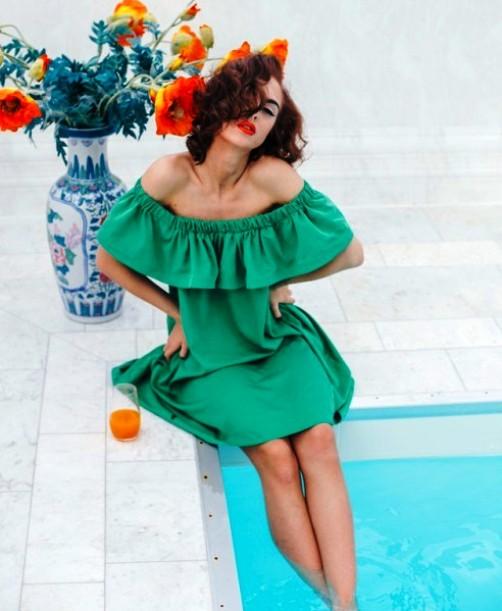 Трендовые цвета лета 2018 — освежаемся в зеленом платье
