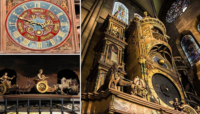 30-метровые часы Страсбургского собора - шедевр эпохи Возрождения