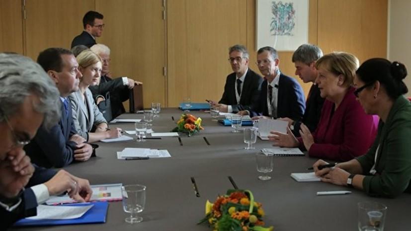 Медведев обсудил с Меркель заявления США о «Северном потоке — 2»