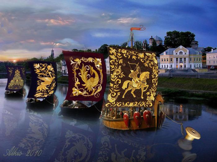«Она в иголку вдела это чудо, ниспосланное небом с высоты…» Торжокское золотное шитьё