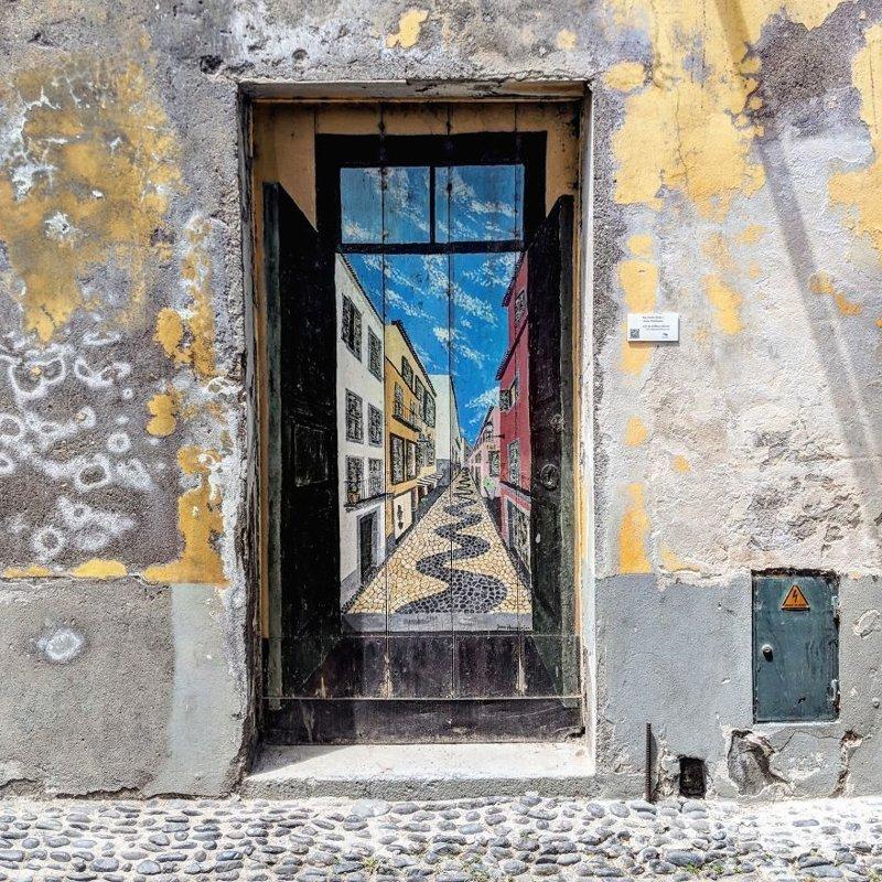 3. дверь, картина, мадейра, португалия, путешествие, фотография, фотомир
