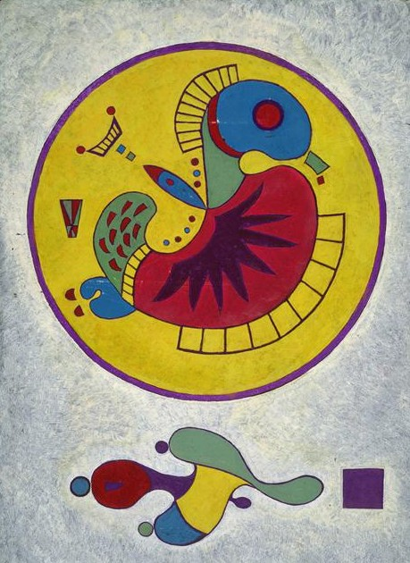 Wassily Kandinsky artist.  Pictura.  Untitled.  1944