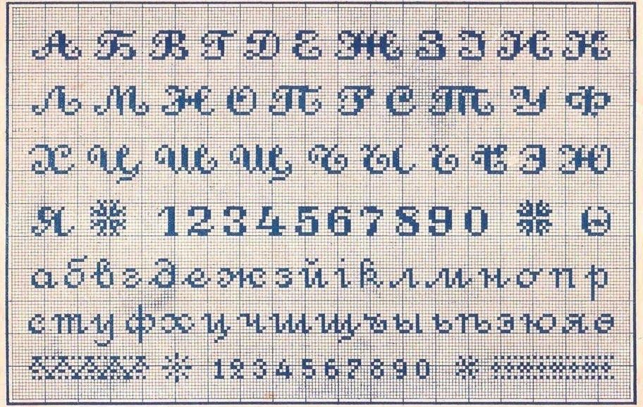 Русские буквы крестиком - вишивка хрестиком схеми - запись пользователя