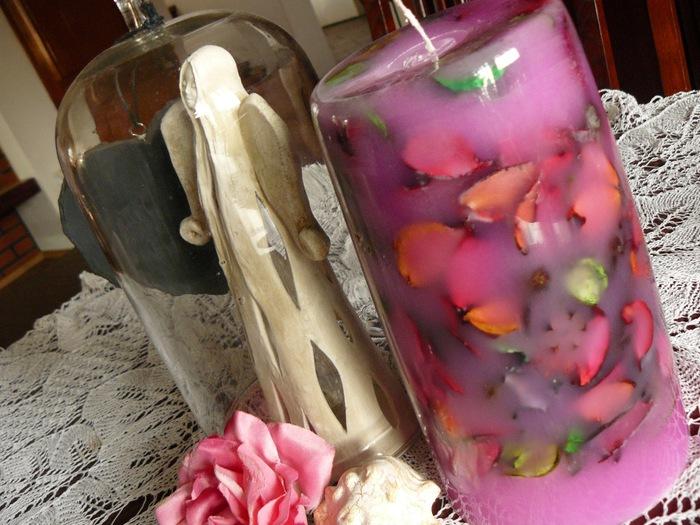 Как сделать цветочную свечу