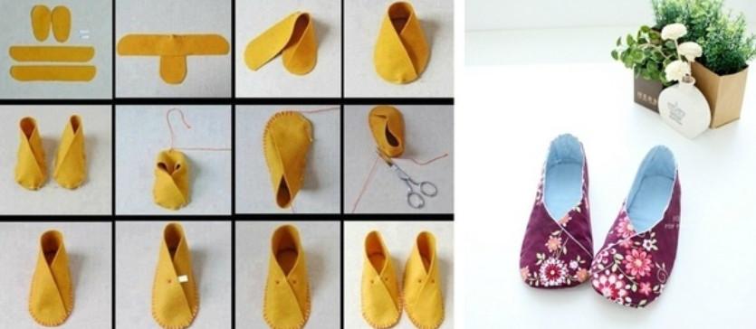 Замечательные идеи + мастер-классы для создания тапочек... Тапочки-кошечки мне нравятся больше всего!