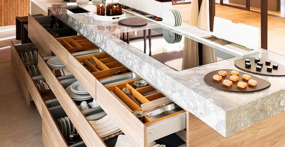 Рациональное размещение посуды на кухне