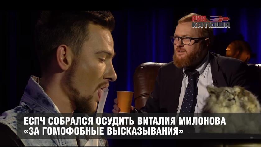 Гомосеки в атаке: ЕСПЧ собрался осудить Виталия Милонова «за гомофобные высказывания»