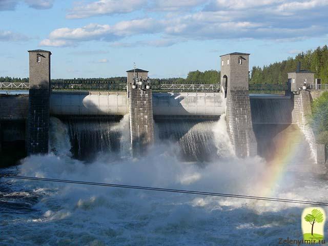 Завораживающий водопад Иматранкоски на плотине в Иматре, Финляндия - 16