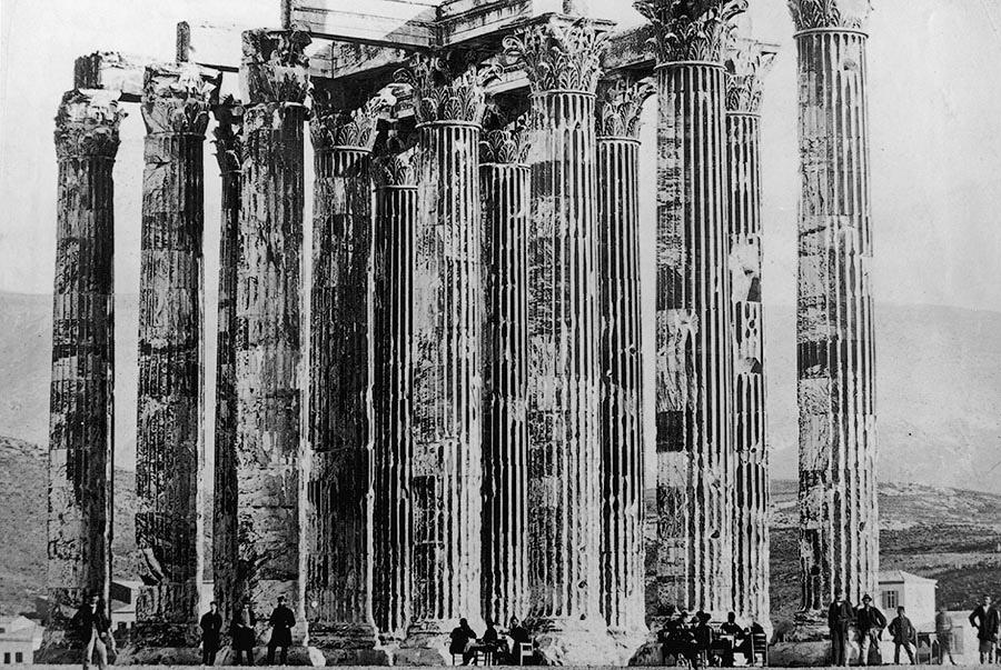 Путешественники в Афинах. Греция, 1880 год.