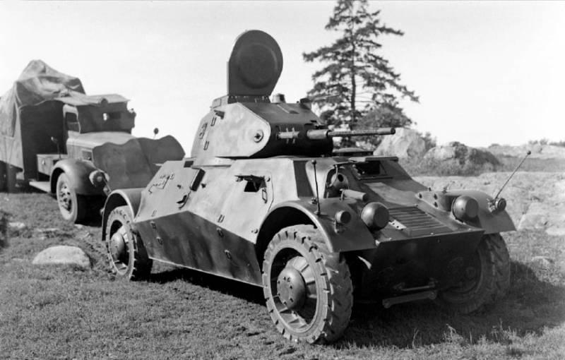 Колёсная бронетехника времён Второй мировой. Часть 9. Шведский бронеавтомобиль Pansarbil m/39 Lynx