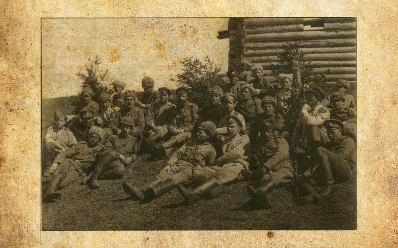 Колчаковцы на отдыхе. Фото: © Wikipedia.org
