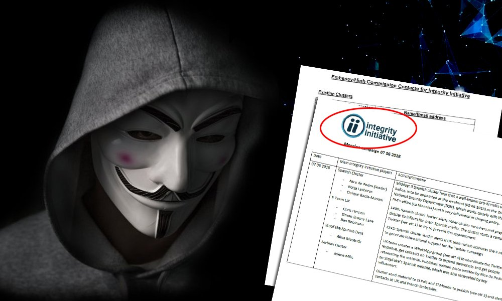 Не только Россия: хакеры выяснили, против каких стран работает британская «фабрика мысли» Integrity Initiative