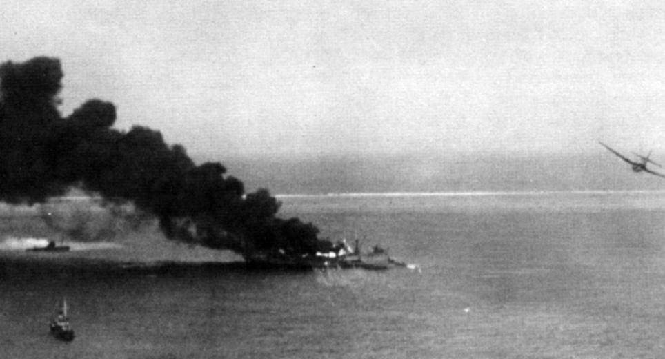 Американская армада включала эсминцы, подводные лодки, авианосцы и более 500 самолетов
