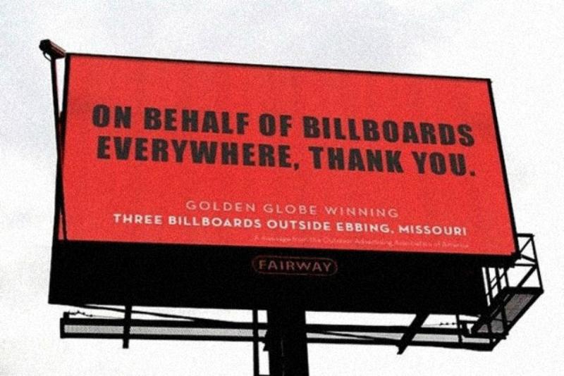 Производители билбордов поблагодарили создателей фильма «Три билборда на границе Эббинга, Миссури»