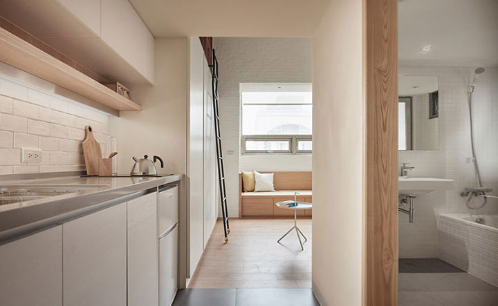 Минимум пространства — максимум удобства: Функциональный интерьер квартиры, площадь которой всего 22 квадратных метра