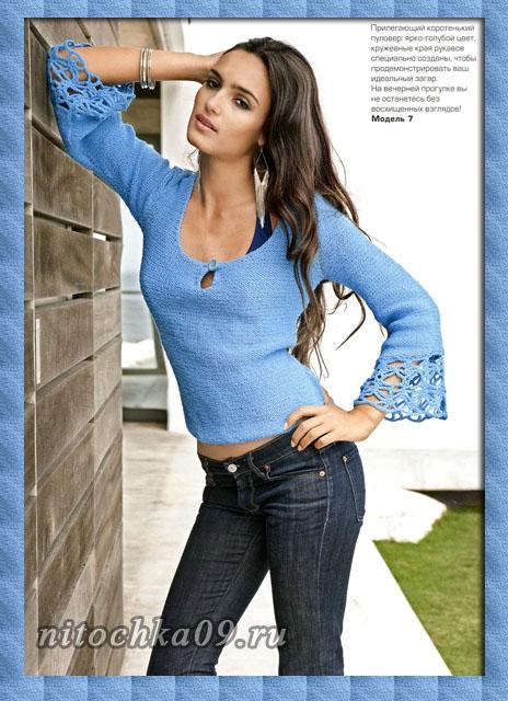 Очередная  порция симпатичных  женских моделей спицами