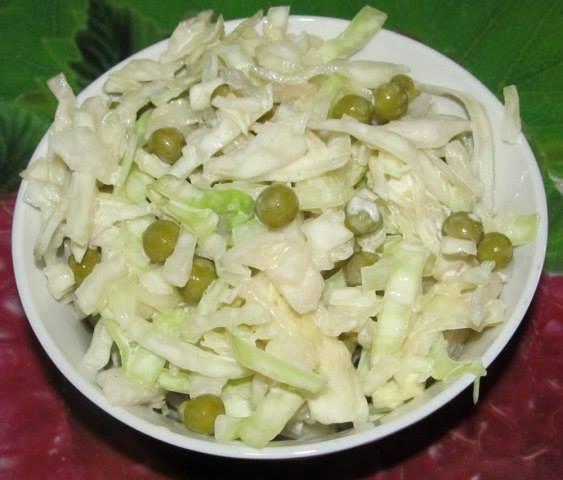 Салат из капусты и горошка рецепты