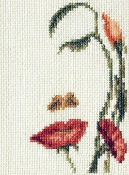 Вышивка «Лицо-цветы»