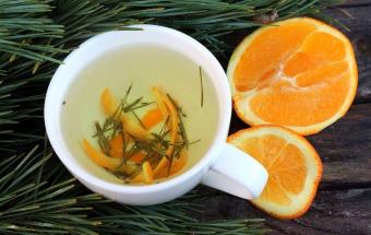Чай из хвои и апельсина