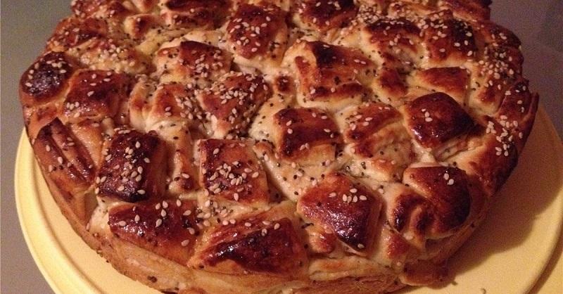 Рецепт слоеного пирога с джемом