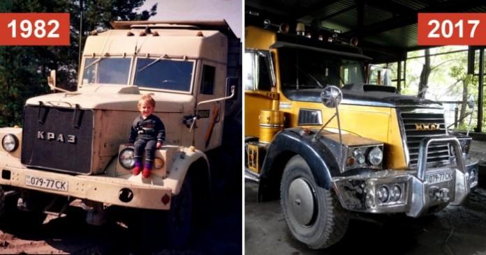 Старый КРАЗ 256 из 1982 года превратили в могучий и современный грузовик