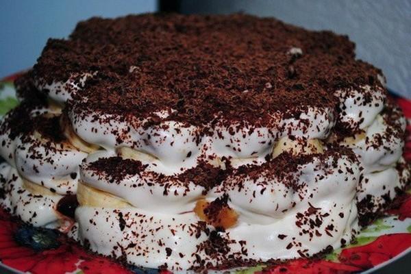 Банановый торт из пряников с…