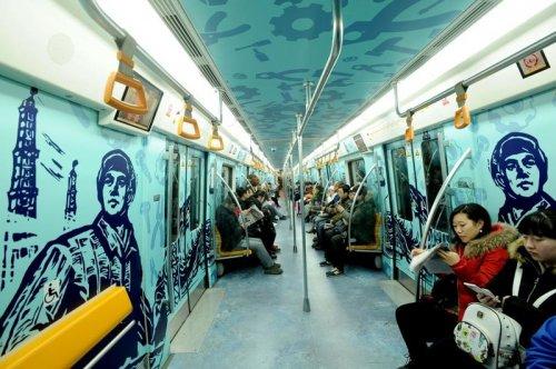 Вагоны метро, в которых неск…