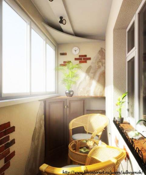 Дизайн интерьера балкона в хрущевке