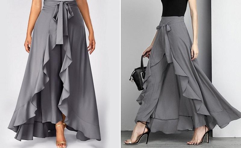 Самый женственный и универсальный силуэт: юбки палаццо на все случаи жизни