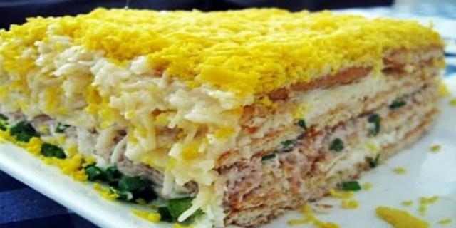 До неприличия вкусный торт-салат закусочный… рекомендую