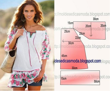 Картинки по запросу летних блузок выкройка