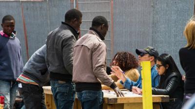 В Париже ликвидирован стихийный лагерь мигрантов