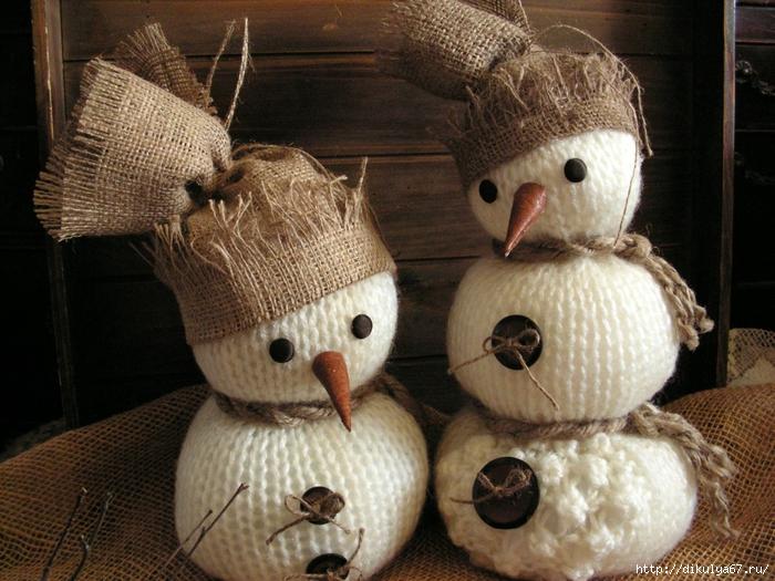 Новогодние украшения из мешковины своими руками