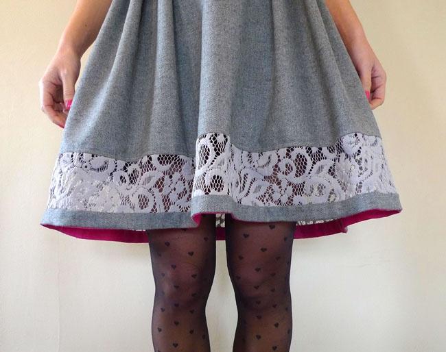 Короткое платье как удлинить кружево