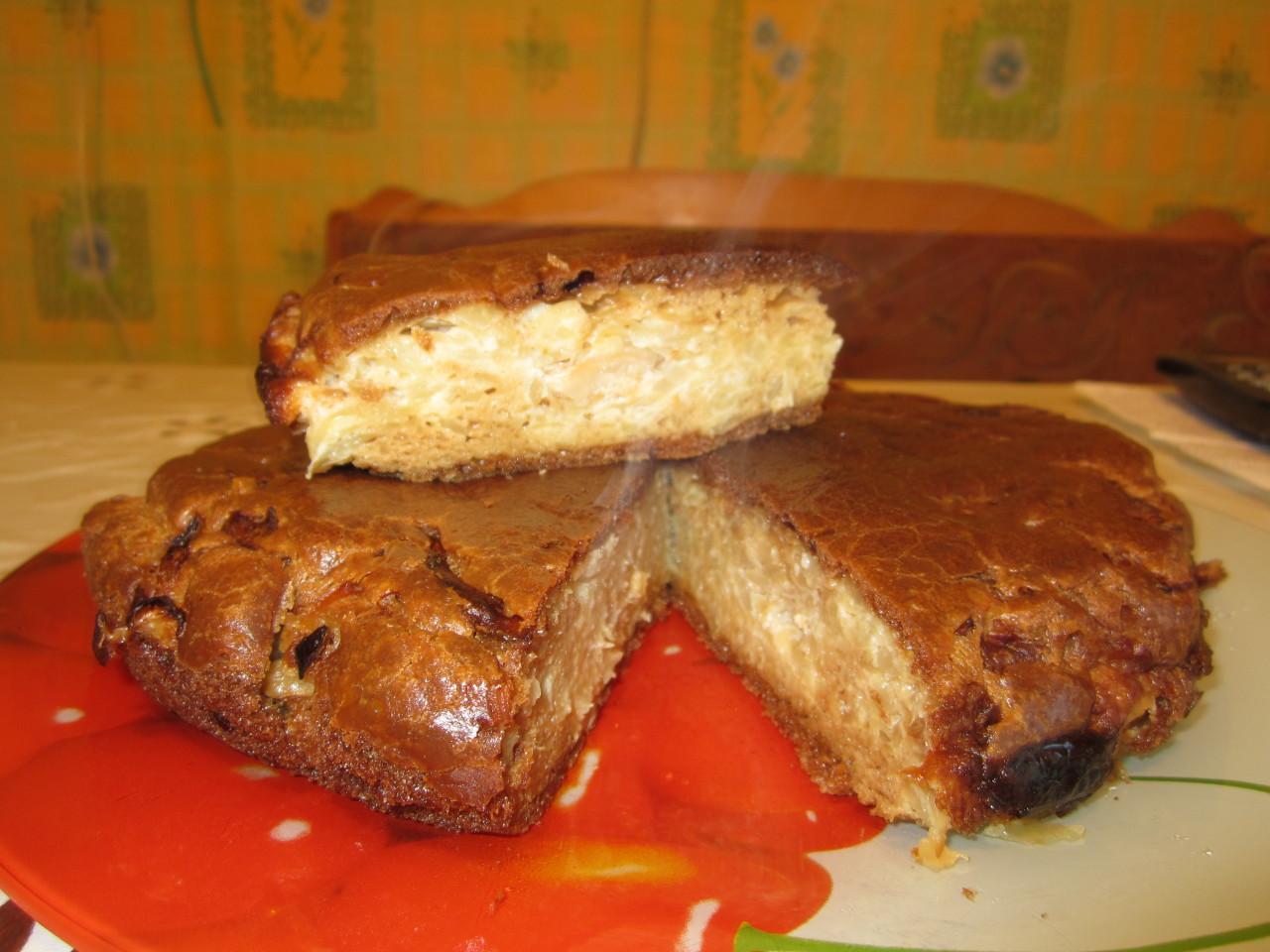 пирог с капустой из жидкого теста.