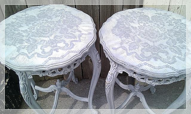 Как обновить старую мебель своими руками : трафарет из кружев или гипюра