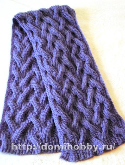 шарф спицами - Самое