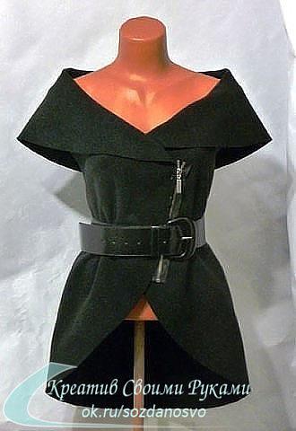 Идея для любителей шитья. Простой, но эффектный жилет из круга. Выкройка, мастер-класс.