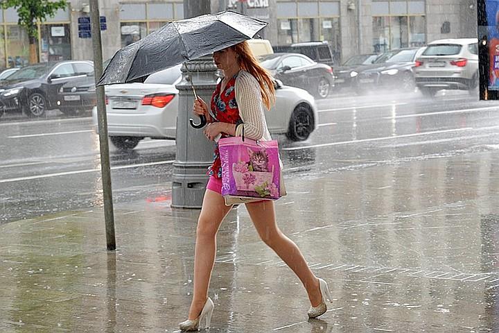 МЧС РФ предупредило москвичей о дожде, грозе и сильном ветре