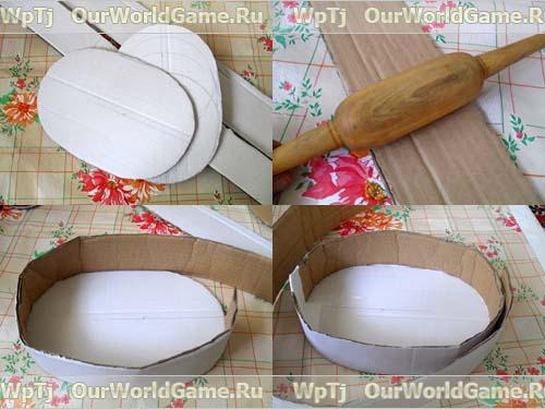 Изготовление корзины (основания) корзинки в форме лебедя.