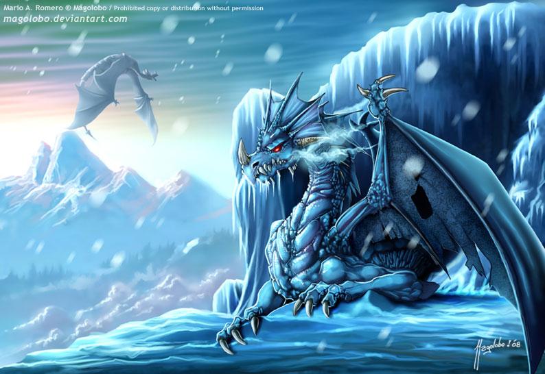 Ледяной дракон.