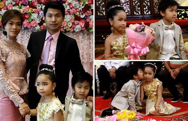 6-летних брата и сестру поженили в Таиланде