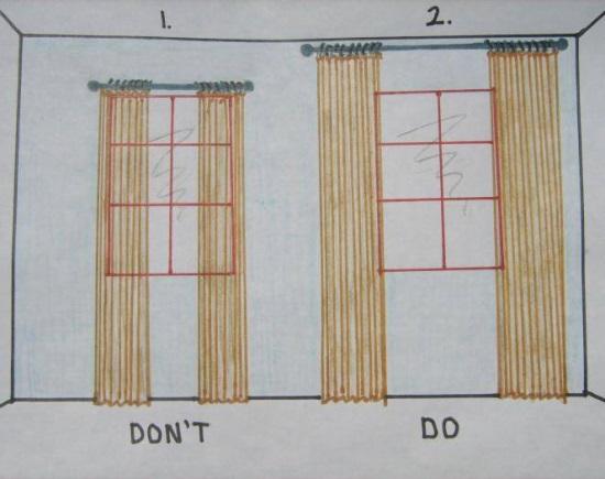 Правильный карниз и шторы для узкого окна