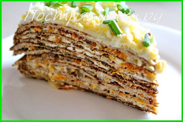 картинки печёночный торт