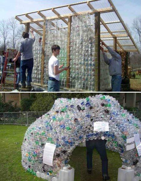 Фото теплиц из пластиковых бутылок своими руками 21